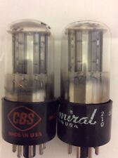 "Matched Pair Cbs-Made 6Sn7Gt Black Plate Tubes - ""Good Enough for Government"""