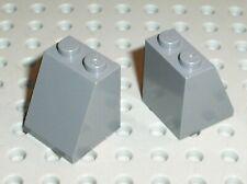 2 x Pièce inclinée LEGO DkStone slope brick ref 3678b / 7094 7946 4757 6210 7019