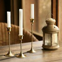 1Pc Brass Candle Holder Candlestick Vintage Style Elegant Home Decoration Golden