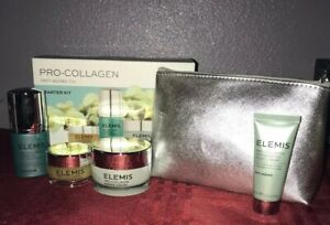 Elemis Pro-Collagen Starter Kit Marine Cream Eye Serum Cleansing Balm Case