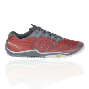 Merrell Herren Trail Glove 5 Outdoor Trekking Schuhe Laufschuhe Sneaker Grau Rot