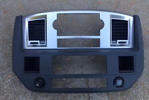 2006-2009 Dodge Ram 1500 2500 3500 Center Dash Bezel Gray OEM