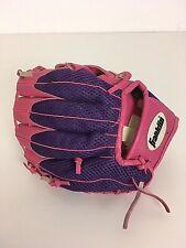 "Franklin Girls Baseball Mitt 22355 - 9-1/2"" Rtp Ready to Play Rh Thrower Pink"
