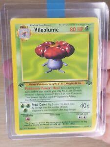 Pokemon Card - Vileplume 31/64 -  1st Edition Jungle Set - Non Holo Rare - NMint