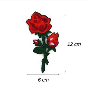 2017 1pcs  hot  Embroidery Rose Flower Sew On Patch  Applique Craft A24