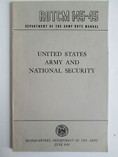 1958 Army Manual ROTCM 145-45 US Army and National Security Leadership Military