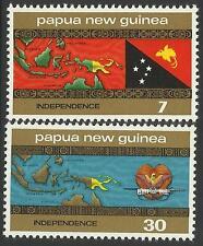 PAPUA NEW GUINEA 1975 INDEPENDENCE 2v MNH