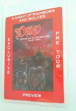 1990 DIO LAMINATED BACKSTAGE PASS PREVIEW THROW EM TO THE WOLVES