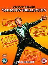 Chevy Chase Vacation Collection (DVD, 2010, 4-Disc Set, Box Set)-slip case - VG