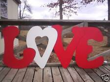 LOVE Letters--4 pc.  Valentine Yard Art Decoration