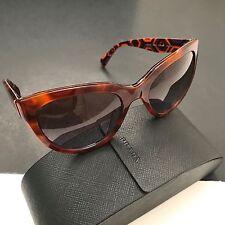 Prada Women's Spotted Havana Tortoise Cat Eye Sunglasses SPR05P MAU-6P1 55mm NEW