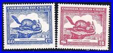 Cile 1948 Chinchilla (2 Francobolli) Nuovo senza Linguella Animali