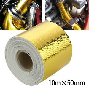 50mm * 20M Roll Reflective Adhesive Gold High Temperature Heat Shield Wrap Tape
