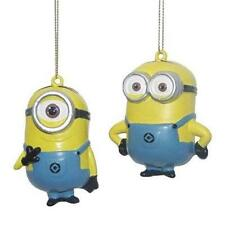 Despicable Me MINIONS Licensed 2 pc DAVE & CARL Christmas Ornament Set  HOLIDAY