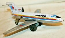 RARE 1960's UNITED AIRLINER BOEING 727 JET~Cragstan Japan Marx Tin Toy Airplane