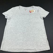 Reebok Women's Blouse Yoga Training GYM Shirt Gray Active Wear Size XL