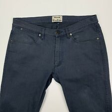Men's ACNE Studios (34x30) Max Deep Motion Blue Slim Fit 5 Pocket Stretch Jeans