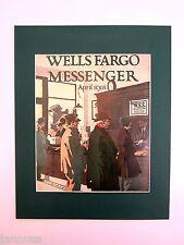 alter Reklame Druck Bild hinter Passepartout Wells Fargo Messenger 50x40cm 246