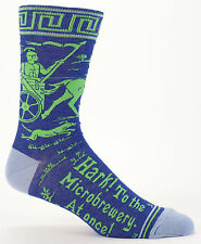 Hark! To the Microbrewery Blue-Q Crew Socks New Men's Hosiery Size 10-13
