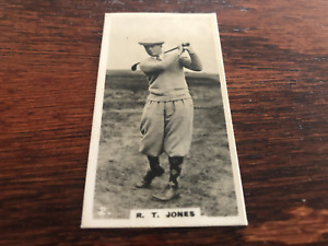 1926 Lambert & Butler Who's Who in Sports #2 Bobby Jones RC Rookie Golf