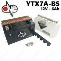 BATTERIA ONE 6AH = YUASA YTX7A-BS KYMCO SUPER 8 2T 50CC 2009-2015 CON ACIDO