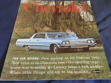 1964 Chevrolet Bel Air Impala SS BIscayne Color Brochure Catalog PROSPEKT