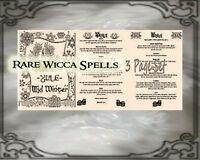 Yule Christmas sabbat 3pg set Wicca Book of Shadows Pagan Occult Rituals Spells