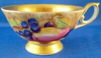 Vintage Occupied Japan Hand Painted Tea Cup - Fruit and Interior Gold