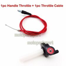 Twist Handle Throttle Cable For XR50 CRF50 CRF70 KLX110 Thumpstar Pit Dirt Bike
