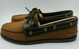NEW Sperry TopSider Authentic Original A/O Buck Brown 2 Eye Boat Shoe 13 W 1025