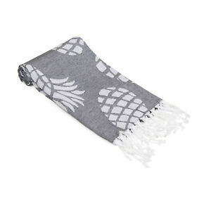 Pineapple Beach Towel, Sand Free 100% Cotton Soft Sand Free Large Beach Cover