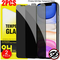 Privacy Anti-Spy Tempered Glass Screen Protector For iPhone 11 Pro XS Max XR 7 8