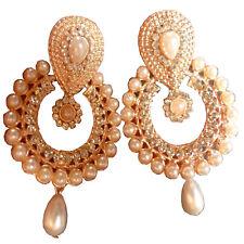Earrings South Indian 5cm Long Fashionable CZ Drop Dangler Latest Fancy Set