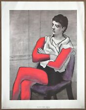 Picasso The Seated Acrobat Vintage Original Oversized Penn Print Lithograph