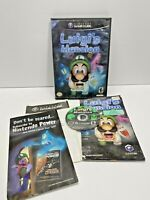 Lugi's Mansion Mario Black Label complete in case w/ manual Nintendo GameCube