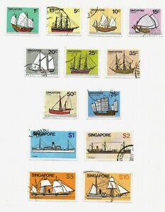 Singapore, 1980 ships complete set used (S006)