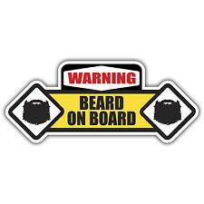 BEARD on BOARD hipster sticker by mr oilcan 170 x 70mm