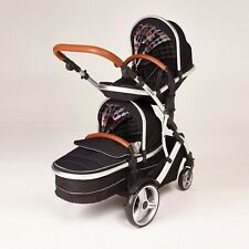 Double twin Pushchair pram travel system Tandem car seat stroller Duellette CBBS