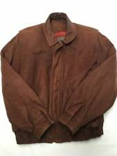 Mens COACH Brown Soft Leather Motorcycle Flight Bomber Jacket Sz S