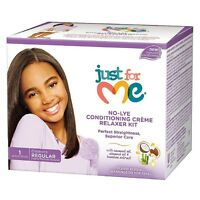 Just For Me No-Lye Regular Conditioning Creme Relaxer Kit 1 ea