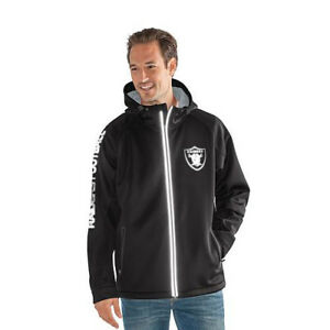 Oakland Raiders G-lll NFL Reflective Motion Full-Zip Hooded Jacket - SUPER SALE