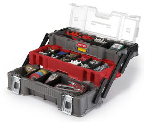 KETER Trio Organiseur Excellent Boîte à outils Caisse / loquets métalliques