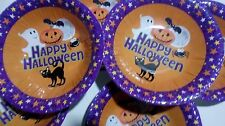 """20 Halloween plates. Disposable, paper party plates. 7"""" happy Halloween."""