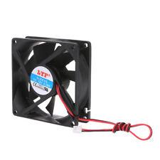 12V 2-Pin 80x80x25mm PC Computer CPU System Heatsink Brushless Cooling Fan 8025