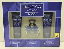 NAUTICA VOYAGE N-83 Gift Set Men EDT After Shave Shower Gel Perfume Fragrance