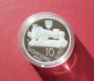 """Slowakei 10 Euro  Silbermünze """"Turbine""""  2009 SA3196, Mi.Nr.103 , PP"""