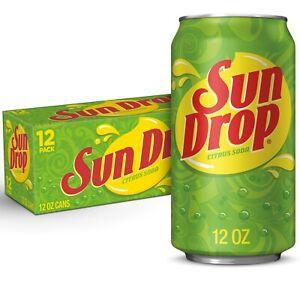 New Sun Drop Citrus Soda 12 fl oz Cans 12 Pack