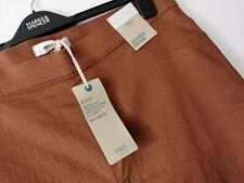 LADIES M&S SIZE 16 LONG TAN HIGH RISE FLEXIFIT PULL ON JEGGINGS JEANS FREE POST
