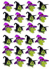 Halloween Witch Scene  STAND UP Cupcake  Cake Toppers Edible Decorations
