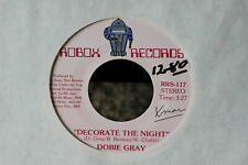 Dobie Gray Decorate The Night Pink Label 45-rpm Record